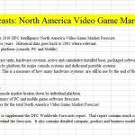 North America Video Game Market Forecast