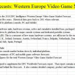 Western Europe Video Game Market Forecast